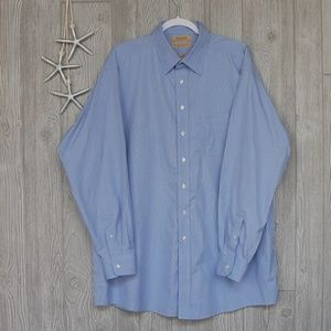 Roundtree & Yorke Gold Label Shirt Blue 17/36 Tall
